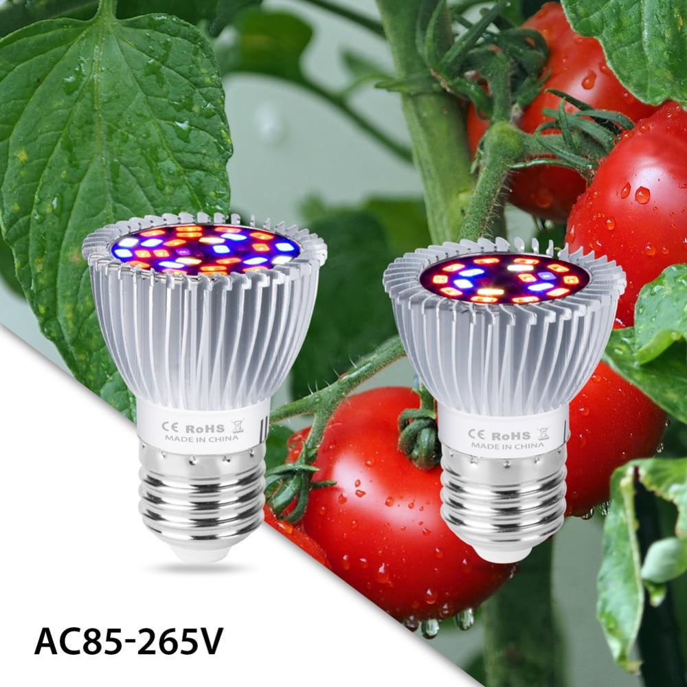 Led Plant Light Bulb E27 Full Spectrum Grow 18W 28W Indoor hydroponics Lamp 30W 50W 80W Fito Tent