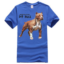 American Pitbull Standing Proud O-Neck Short-Sleeve T Shirt