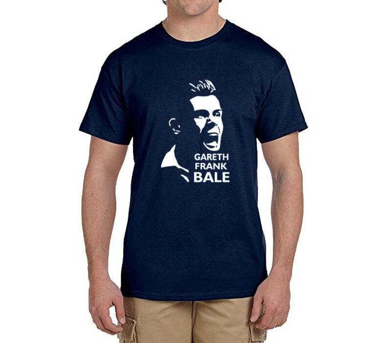 Gareth Bale face logo tee 100% cotton cool t shirts Mens o-neck fashion T-shirts fans gift 0216-21