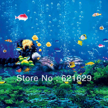 Under The Sea 8'x8′ CP Computer-painted Scenic Photography Background Photo Studio Backdrop ZJZ-617