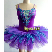Enchantress Lilac Fairy Ballet Halloween Tutu Dance Dress Costume Blue Decoration Violet Tutus Custom Made