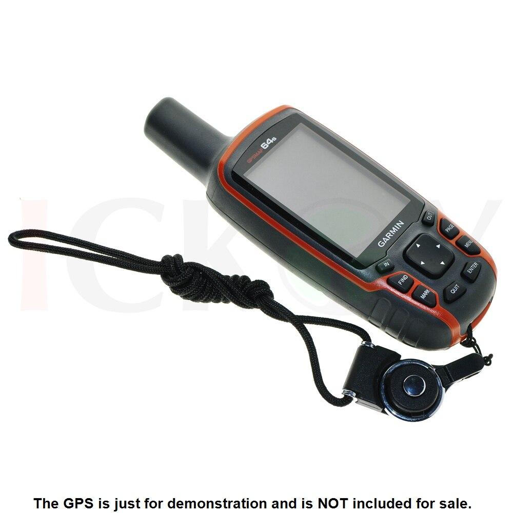 Black Detachable Ring Neck Strap Lanyard for Handheld Hiking GPS Garmin GPSMap 62 64 62st 64st Astro 320 220 Accessories цена