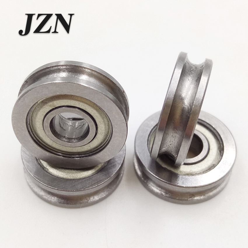 Free Shipping (10Pcs/lot) 3D Printers Extruder Parts U-groove Idler Pulley Belt Pulley Bearing U604ZZ U Ditch 604U 4*13*4mm