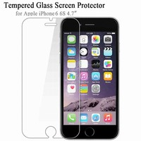 Soultz Tempered Glass Film for iPhone 5 5s 7 Plus 9H Hard 2.5D Screen Protector for iPhone 6 6s 6 Plus SE 4 4S with Clean Tools