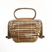 Foldable Bamboo Handbags for Women 2019 Fashion Womans Bags Brands Designer Travel Tote Bag Summer Handmade Ladies Beach Bag