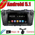 8'' Quad Core Android 5.1 Car GPS For MAZDA 5 2009-2012/PREMACY 2009-2012 With 16GB Flash Radio Stereo Multimedia Free Shipping