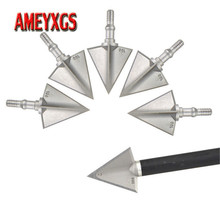 12/24pcs Archery Arrowhead 3 Blades Broadhead 100 grain Stainless Steel  Conpound Bow Recurve Hunting Shooting Accessories