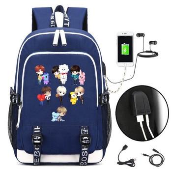 Рюкзак BTS к-поп USB зарядка и кабель бесплатно 1