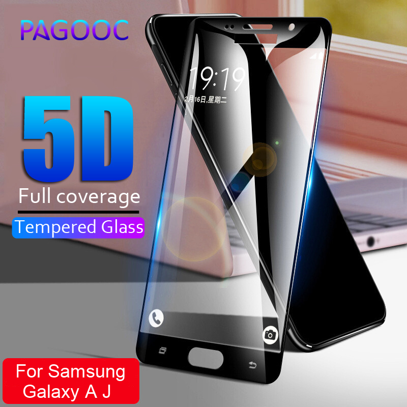 5D Tempered <font><b>Glass</b></font> on the For <font><b>Samsung</b></font> Galaxy A5 A7 A3 J5 J3 J7 2016 2017 A510 <font><b>A520</b></font> Full Cover Screen Protector Film 9H Protective image