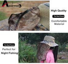 Outdoor Foldable Anti Mosquito Fishing Hat Jungle Cap Sunbonnet Insect Net Bug Bee Repellent Mesh Hat Head Face Protector Hats