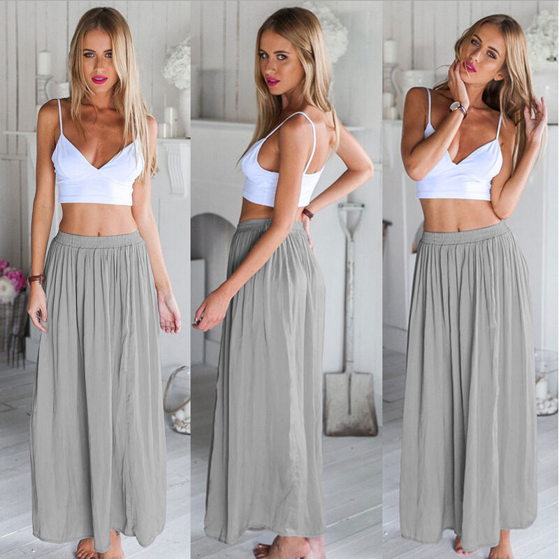 New Fashion Women Sleeveless Short Tops Skirt Set 2 Piece Set Maxi ...