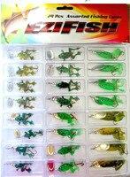 Alta calidad suave insectos rana con lentejuelas biónico bagre 24 unids cargado grupo wobblers pesca para la pesca de agua dulce pesca mepps