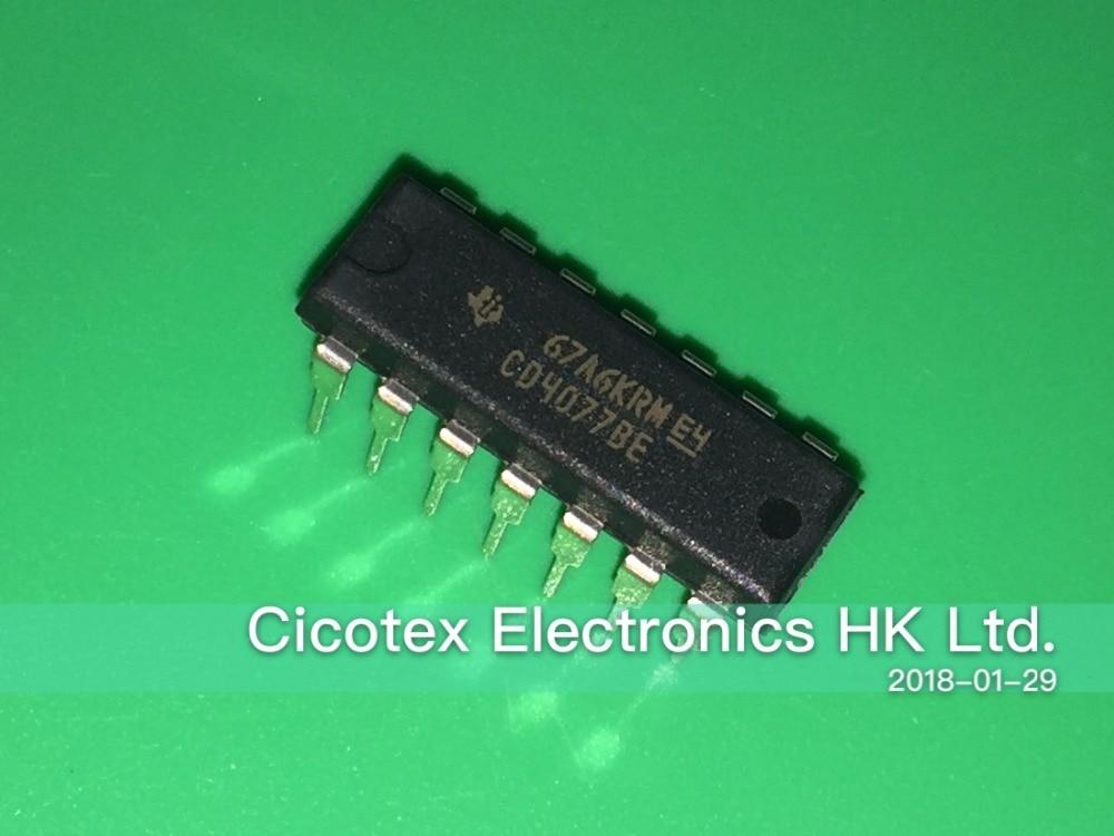 5PCS X CD4077BE IC GATE XNOR 4CH 2-INP 14-DIP TI