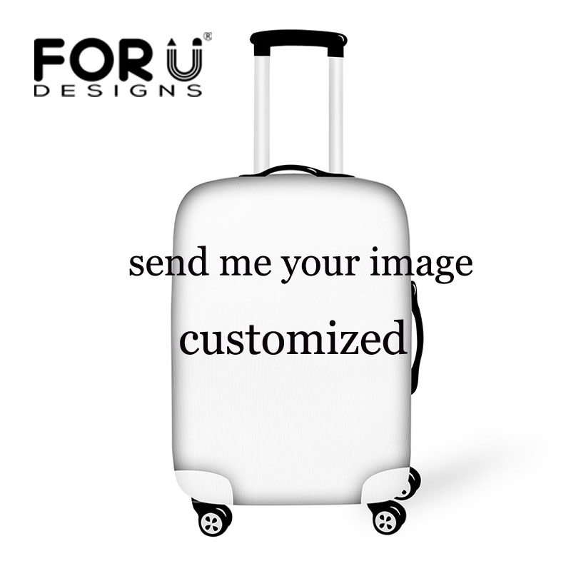 FORUDESIGNS Personalized Custom Luggage Cover 18/20/22/24/26/28/30inch Travel Suitcase Cover Elastic Protective Dust Cover