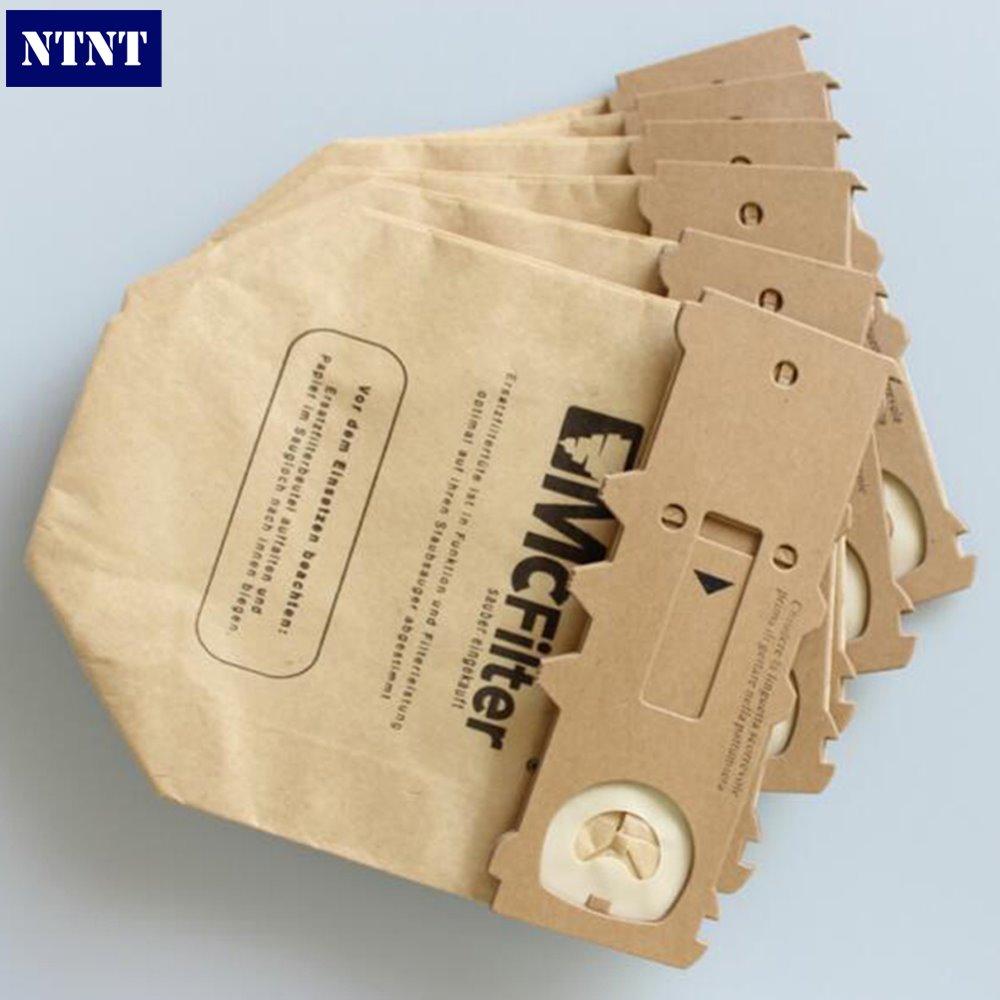 NTNT 6 PCS/LOTFor VORWERK For KOBOLD VK130 VK131 Paper dust bag suitable Vacuum Double Lined Micro Fibre Filter Dust Bag