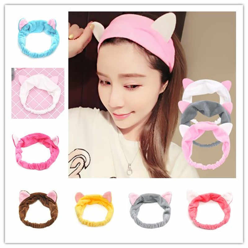 Cat Ear Female Hair Band Hairband Headdress  Band Headwear Face value Trinket Hair Accessories Turban Makeup Tool Lovely Cute