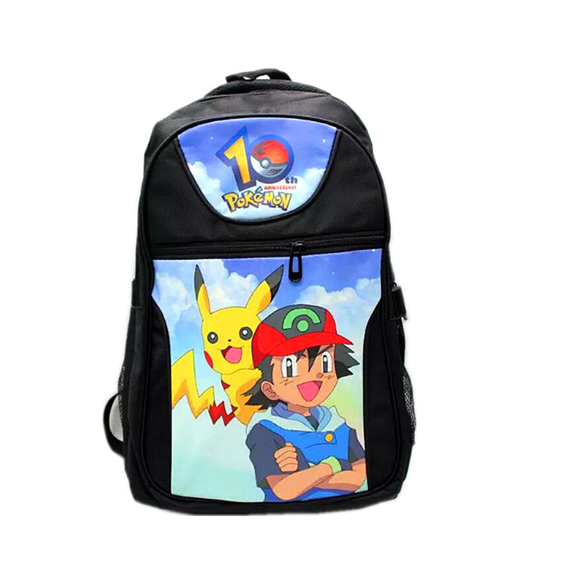Free Shipping School Backpack Poke Go Bag Game Pocket Monster Eevee Picachu Computer Backpacks Fashion Travel Bags climate 2017 pocket monster go game pikachu flat snapback caps adult men women animation cartoon cute comic orange eevee hat cap