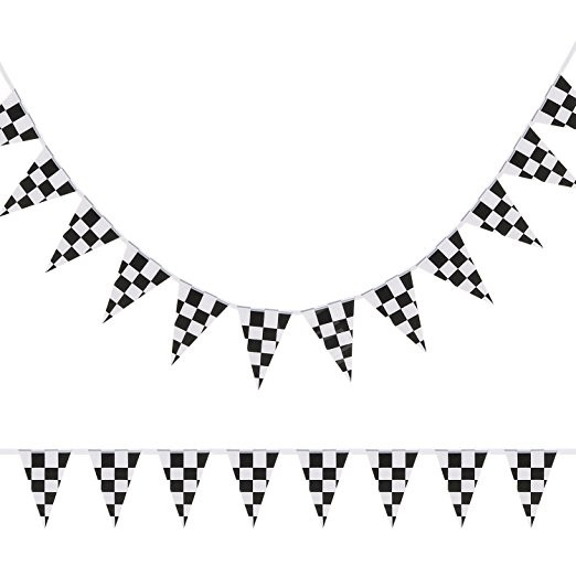 10m 38pieces Set14cmx21cm Checkered Racing Flag Checkered Race Car Pennant Flags Banners For Racing Race Car Party Sport Events Flags Banners Accessories Aliexpress