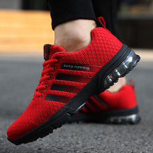 2018 New Style Brand Sports Running Shoes Men's Outdoor Jogging Walking Athletic Comfortable Breathable Lace-Up Cushion Sneakers