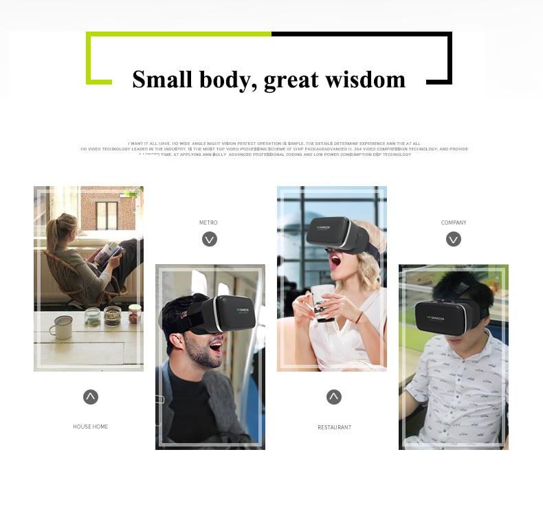 Rovtop 3D Glasses VR Box Virtual Reality Cardboard Headset Helmet For Smartphone Samsung Eyeglasses VR Devices for Games Z2
