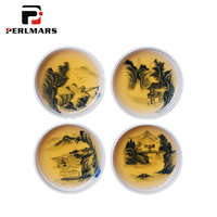 50ml Jingdezhen Porcelain Teacup Hand Painted Landscape Pattern Puer Tea Bowls Master Small Sake Cups Tea Cup Drinkware Teaware