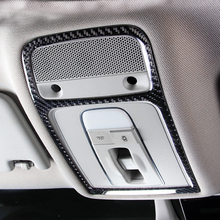 Car styling For Audi A3 8V Carbon Fiber Interior Reading Lights Stickers Decoration Covers for 2014-2017