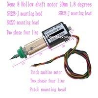Nema8 hollow shaft SMT Stepper Motors,Hybird 2 phase 0.8A 1.8 4 wire,length 30mm for SMT Machanie OK20STH30 0604B NK2.5 12