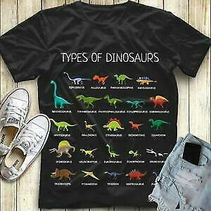 Type Of Dinosaurs Men Cotton Tshirt Black S 5Xl  Ultra Cotton Gift For Men