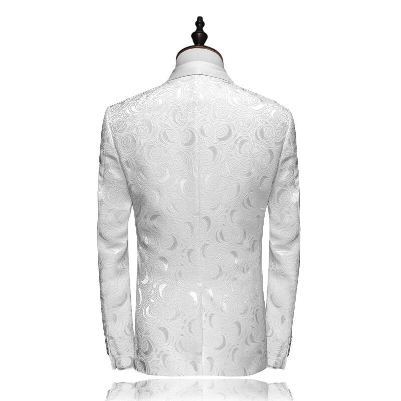 سترة + السراويل الرجال دعوى 2019 أحدث رفقاء تصاميم الزفاف الأبيض البدلات الرسمية للرجال يتأهل رجل الدعاوى العلامة التجارية الملابس 4XL-في بدلة من ملابس الرجال على  مجموعة 2
