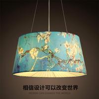 modern Japan pendant light living room restaurant bedroom cloth art hanging light