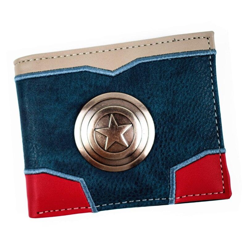 FVIP New Design Captain America / Deadpool /Thanos Wallet Mens Short WalletFVIP New Design Captain America / Deadpool /Thanos Wallet Mens Short Wallet