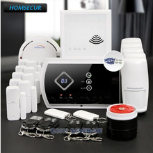 HOMSECUR Wireless GSM SMS Autodial Home House Alarm System with IOS Android APP