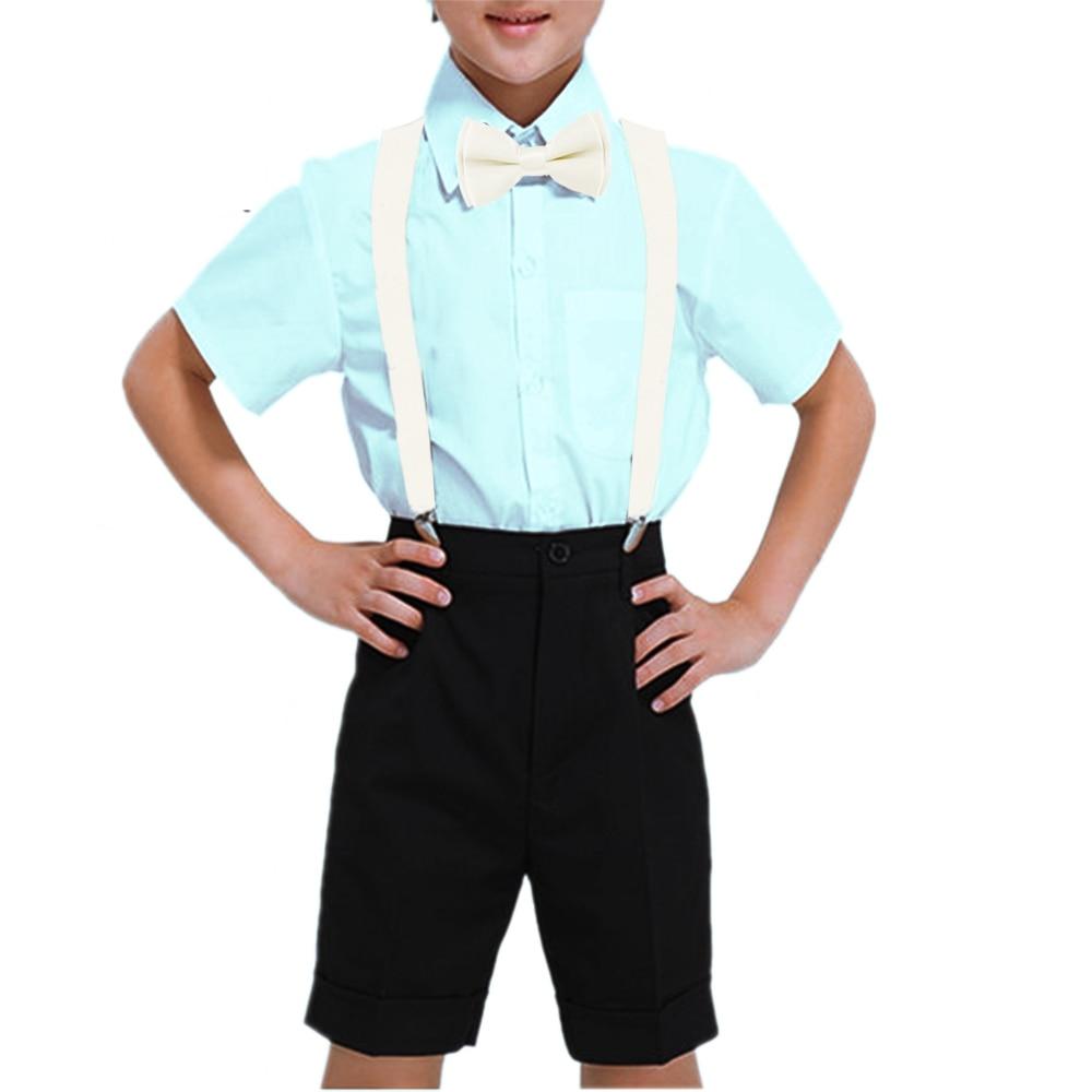 1 Width Kinder Hosentrager Elastisch Kids Suspenders 4 Strong Clips Straps Y-form Slinger Length Adjustable Giarrettiere Belt Men's Suspenders