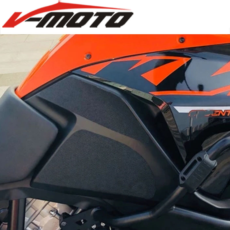 NEW Motorcycle  Leather Tank Traction Side Pad Gas Fuel Knee Grip Sticker Decal For KTM 1050 1090 1190 Adventure 1290 Super