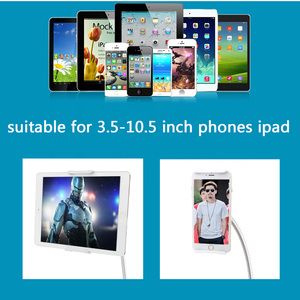 Image 3 - Cell Phone Holder 360 Flexible Gooseneck Mount Bed Desk Lazy Stand for 3.5 10.6 Phones iPhone 7 8 Plus Huawei Mate Se 20 Xiaomi