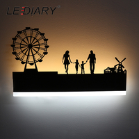 LEDIARY Retro LED Wall Lamp Creative Painting 110 240V Modern Black Sconce Decoration For Bathroom Living Bed Room Animal