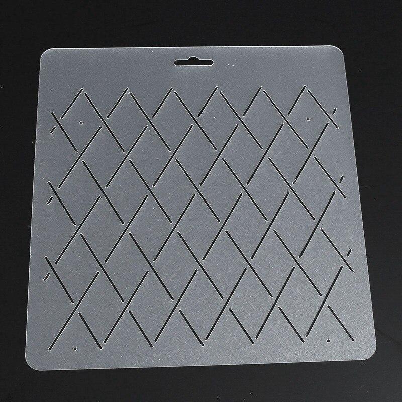 KiWarm DIY Semi transparent Rhombus Shape Stencil Plastic Quilting ... : quilting template plastic - Adamdwight.com