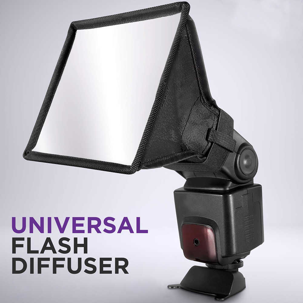 30x20 cm/17x15 cm Flash diffuseur lumière Softbox (universel, pliable) pour Nikon Canon Sigma Sony Yongnuo Godox Flash Light