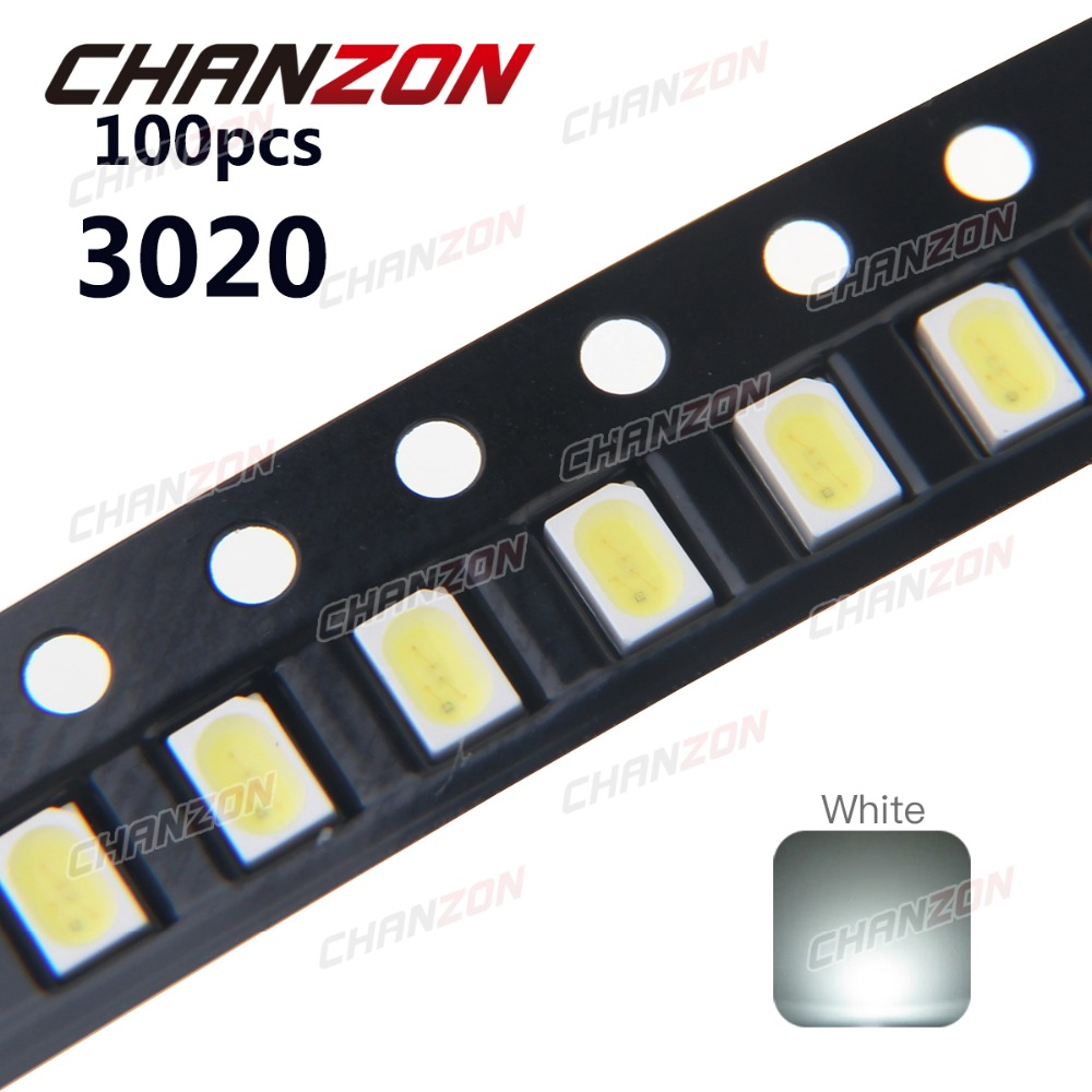 Active Components Electronic Components & Supplies 100pcs X 3020 Ice Blue Red Jade Green Warm White Yellow Pink Ultra Bright Smd Led Indication Special Summer Sale