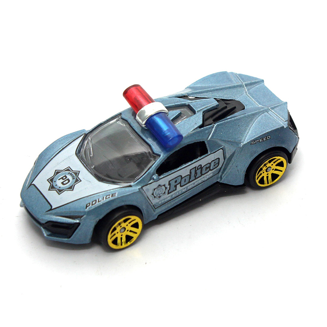Feichao 1:50 Alloy Toy Car Sliding Police Version Mini Colorful Car Metal Toy Car for Children Baby Kids Gift