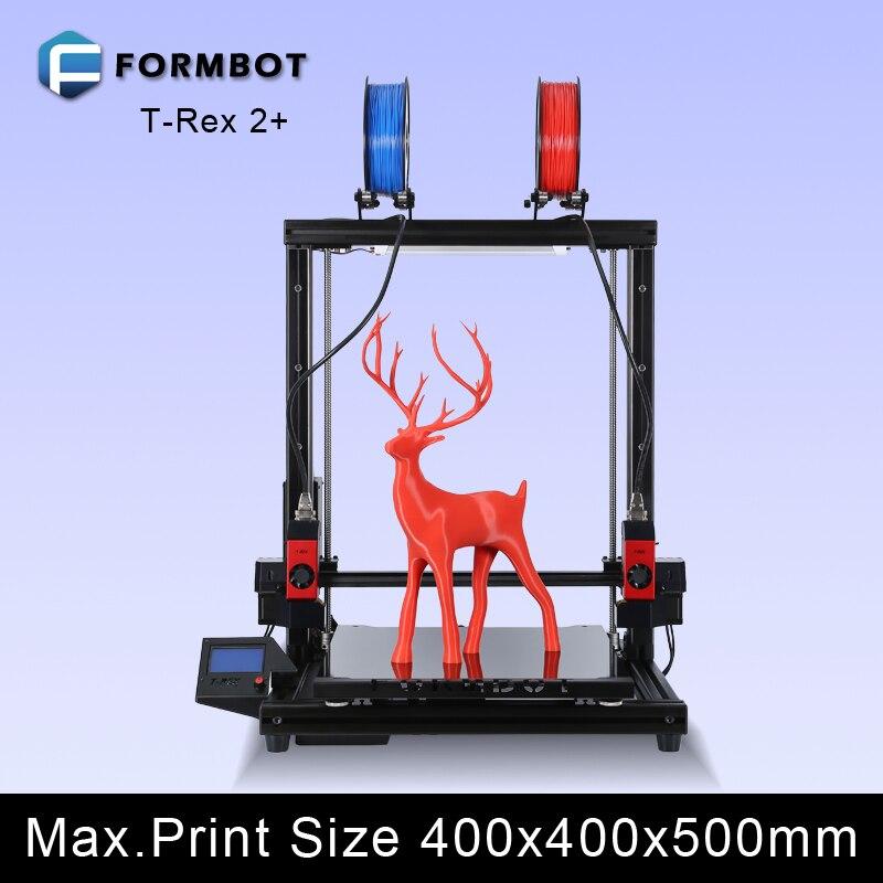 Formbot 3D Printer T-Rex 2+ Dual Extruder High Resolution Big Impressora 3D with Free Filament xinkebot 3d printer orca2 cygnus dual extruder high resolution big impressora 3d with free filament