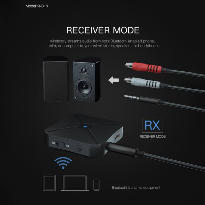 2 in 1 Wireless Bluetooth Transmitter Receiver TV Car Music Receiver Universal 3 5mm Audio Adapter For Headphone Speaker in Wireless Adapter from Consumer Electronics