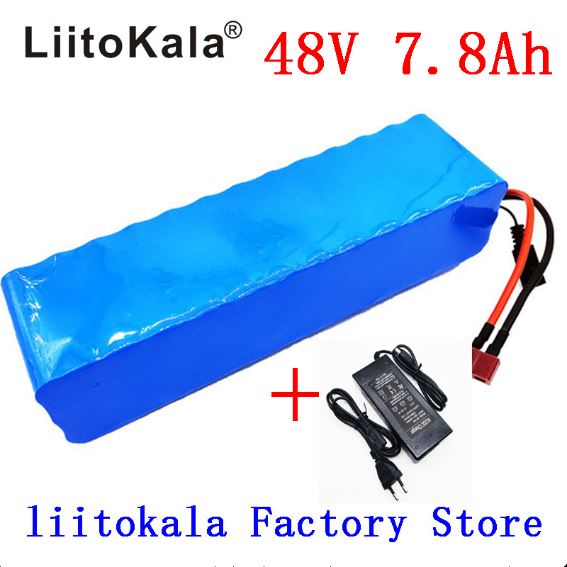 LiitoKala 48V 7.8ah 13s3p High Power 18650 Battery Electric Vehicle Electric Motorcycle DIY Battery BMS Protection+2A Charger-in Battery Packs from Consumer Electronics