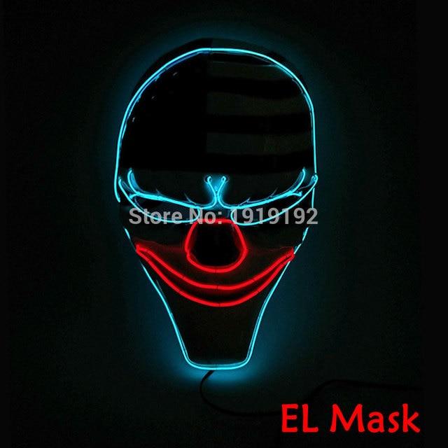 2017 neue Halloween Clown Maske FÜHRTE Maske Blinkt EL draht Glowing ...