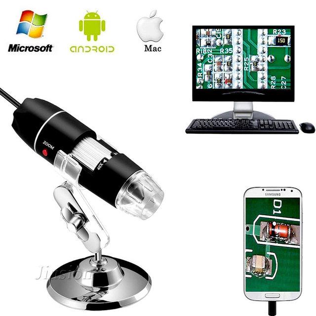 500X-1600X 8 LED Light USB Digital Microscope Mini Camera Magnifier эндоскоп Mini Kamera Electronic Endoscope Micro Cam