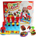 Large size Creative Play Dough toy  8 colors  DIY 3D mud Plasticine extrusion mould machine hamburger handgum  kids toys