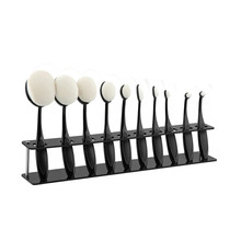 Oval Makeup Brushes Acrylic Display Holder Stand Storage Organizer Brush Showing Acrylic Rack Only No Brushes