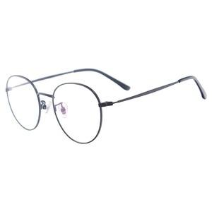 Image 1 - Men and Women Metal Small Vintage Prescription Eyewear Frame Black Round Glasses For Multifocal Myopia Reading Lenses