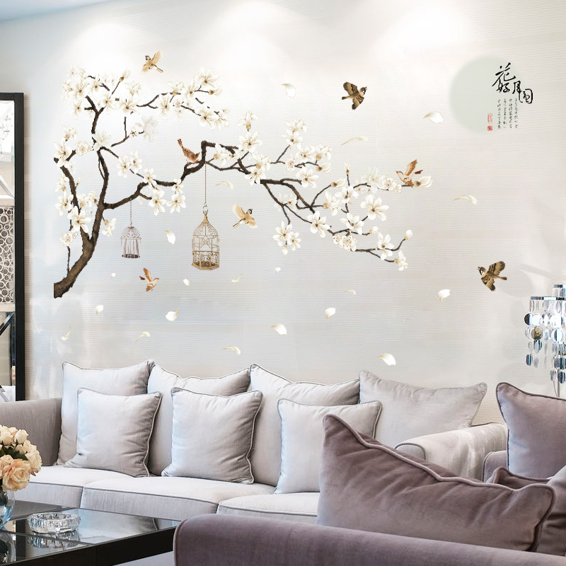 DIY Spring Flower Tree Bird Wall Sticker Decal Home Living Room Bedroom Decor US