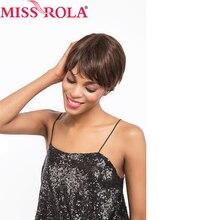 Miss Rola Hair Brazilian Virgin Human Hair Straight #2 Color Short Human Hair For Black Women Wigs Free Shipping